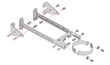 NOVA  verlängerter Wandhalter verstellbar (Edelstahl) Set | NOVA