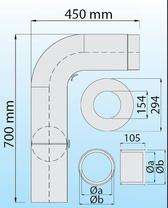 Rauchrohr-Set (gezogen) Ø 130/150